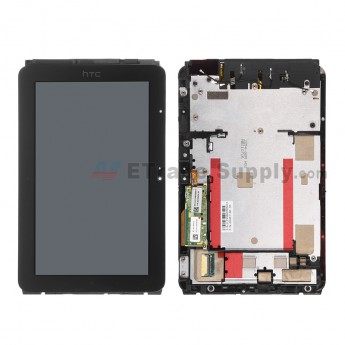 For HTC EVO View 4G LCD Screen and Digitizer Assembly with Front Housing Replacement - Black - Grade A