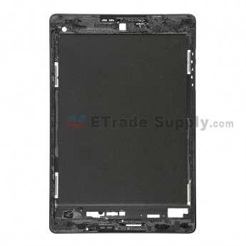 For HTC Google Nexus 9 Front Housing Without Adhesive Replacement - Black - Grade S+