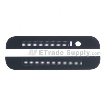 For HTC One E8 Top and Bottom Cover Replacement - Black - Grade S+