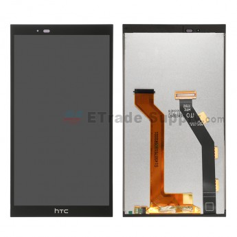 For HTC One E9+ LCD Screen and Digitizer Assembly  Replacement - Black - With Logo - Grade S+