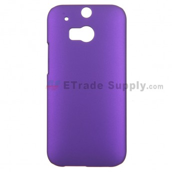 For HTC One M8 Protective Case - Purple - Grade R