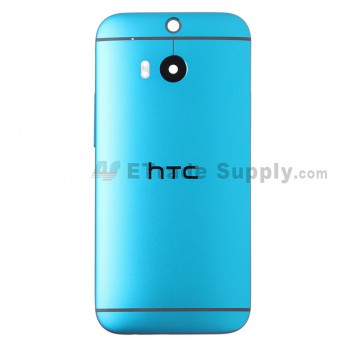 For HTC One M8 Rear Housing Replacement (Blue) - Without Words - Grade S+