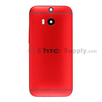 For HTC One M8 Rear Housing Replacement (Red) - Without Words - Grade S+