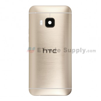For HTC One M9 Rear Housing Replacement (Gold) - HTC Logo - Without Words - Grade S+