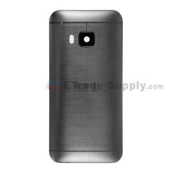 For HTC One M9 Rear Housing Replacement (Gray) - Without Words - Grade S+