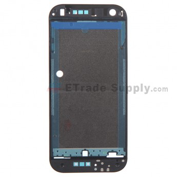 For HTC One Mini 2 Front Housing without Top and Bottom Cover Replacement - Black - Grade S+