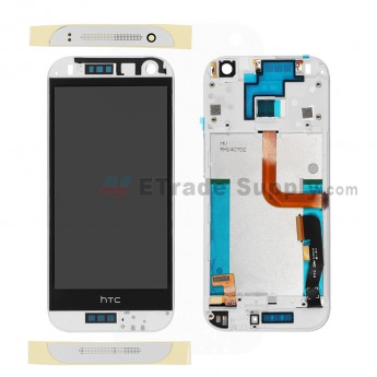 For HTC One Mini 2 LCD Screen and Digitizer Assembly with Front Housing  Replacement - White - With Logo - Grade S+