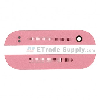 For HTC One Mini 2 Top and Bottom Cover Replacement - Pink - Grade S+