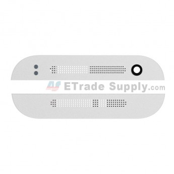For HTC One Mini 2 Top and Bottom Cover Replacement - Silver - Grade S+