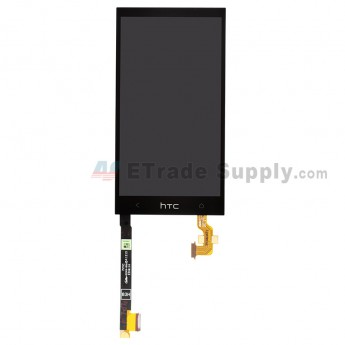 For HTC One Mini LCD Screen and Digitizer Assembly without Light Guide Replacement - Black - Grade A