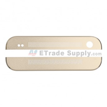For HTC One Top Cover and Bottom Cover  Replacement - Gold - Grade S+