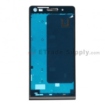 For Huawei Ascend G6 Front Housing Replacement - Black - Grade S+