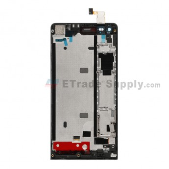For Huawei Ascend G6 LCD Screen and Digitizer Assembly with Front Housing Replacement - Black - With Logo - Grade S+
