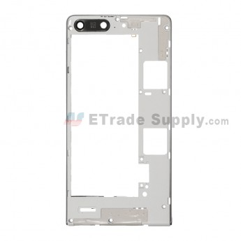 For Huawei Ascend G6 Middle Plate Replacement - Gray - Grade S+