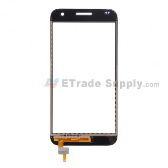 For Huawei Ascend G7 Digitizer Touch Screen  Replacement - Black - With Logo - Grade S+
