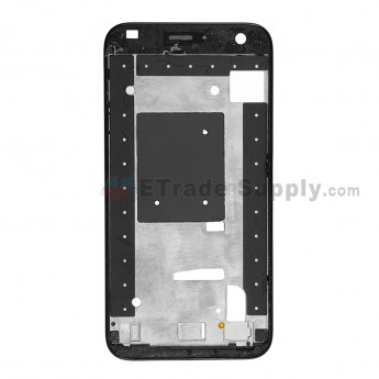 For Huawei Ascend G7 Front Housing Replacement - Black - Grade S+