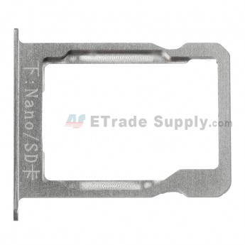 For Huawei Ascend Mate7 SD Card Tray Replacement - Silver - Grade S+