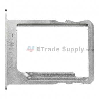 For Huawei Ascend Mate7 SIM Card Tray Replacement - Silver - Grade S+