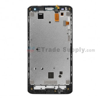 For Huawei Ascend Y530 LCD Screen and Digitizer Assembly with Front Housing Replacement - Black - With Logo - Grade S+