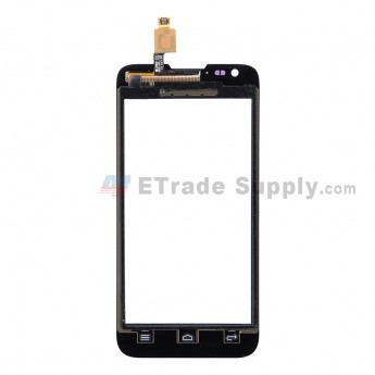 For Huawei Ascend Y550 Digitizer Touch Screen Replacement - Black - With Logo - Grade S+
