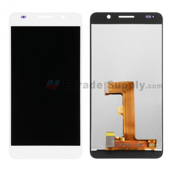 For Huawei Honor 6 LCD Screen and Digitizer Assembly Replacement - White - Without Logo - Grade S+