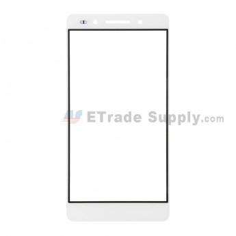 For Huawei Honor 7 Glass Lens Replacement - White - Without Logo - Grade R