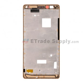 For Huawei Mate S Reclaimed Front Housing  Replacement - Gold - Grade S+