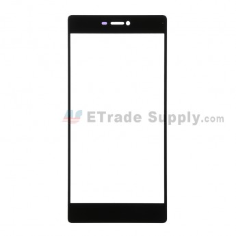 For Huawei P8 Glass Lens Replacement - Black - Without Logo - Grade R