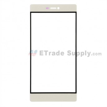 For Huawei P8 Glass Lens Replacement - Gold - Without Logo - Grade R