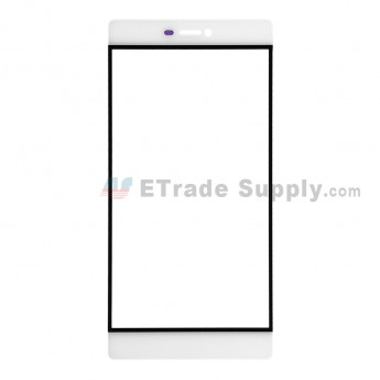 For Huawei P8 Glass Lens Replacement - White - Without Logo - Grade R