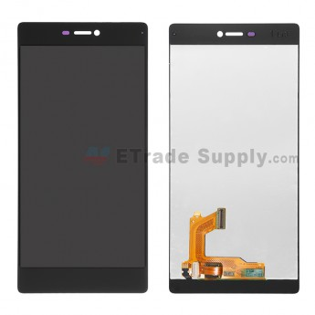 For Huawei P8 LCD Screen and Digitizer Assembly Replacement - Black - Without Logo - Grade S+