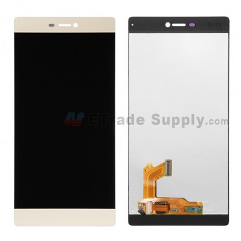 For Huawei P8 LCD Screen and Digitizer Assembly  Replacement - Gold - Without Logo - Grade S+