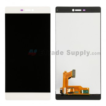 For Huawei P8 LCD Screen and Digitizer Assembly  Replacement - White - Without Logo - Grade S+