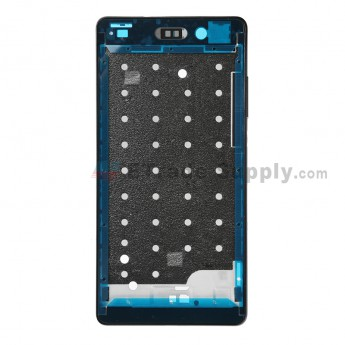 For Huawei P8lite Front Housing Replacement - Black - Grade S+