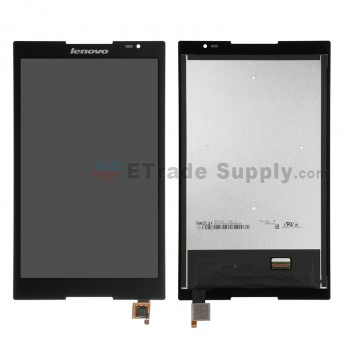 For Lenovo Tab S8-50L LCD Screen and Digitizer Assembly  Replacement - Black - With Logo - Grade S+