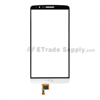 For LG G3 D850 Digitizer Touch Screen Replacement - White - With Logo - Grade R