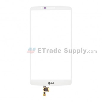 For LG G3 Screen F490 Digitizer Touch Screen  Replacement - White - With Logo - Grade S+