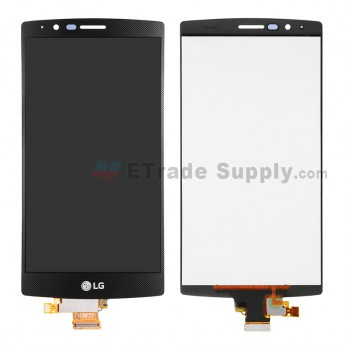 For LG G4 H815 LCD Screen and Digitizer Assembly  Replacement - Black -With Logo - Grade S