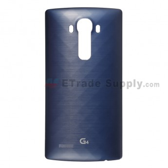 For LG G4 VS986 Battery Door Replacement - Blue - With Logo - Grade S+