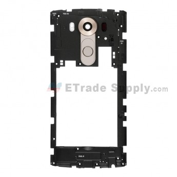 For LG V10 Rear Housing Assembly Replacement - Gold - Grade S+