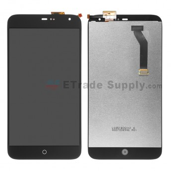 For Meizu MX3 LCD Screen and Digitizer Assembly Replacement - Black - Grade R