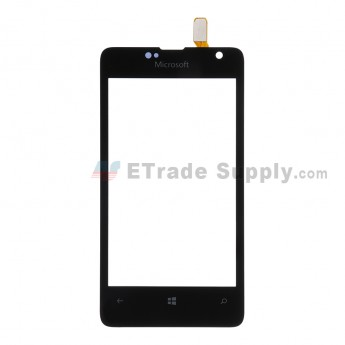 For Microsoft Lumia 430 Dual SIM Digitizer Touch Screen  Replacement - Black - With Logo - Grade S+