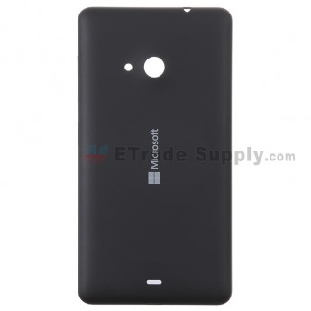 For Microsoft Lumia 535 Dual SIM Battery Door  Replacement - Black - With Logo - Grade S+