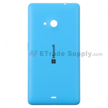For Microsoft Lumia 535 Dual SIM Battery Door  Replacement - Blue - With Logo - Grade S+