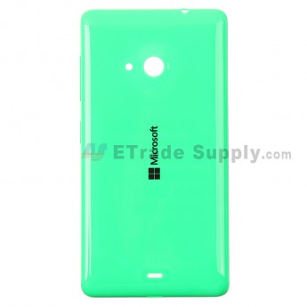 For Microsoft Lumia 535 Dual SIM Battery Door  Replacement - Green - With Logo - Grade S+
