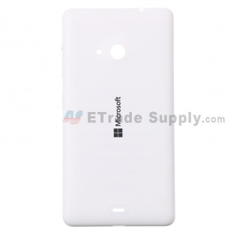 For Microsoft Lumia 535 Dual SIM Battery Door  Replacement - White - With Logo - Grade S+