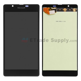 For Microsoft Lumia 540 Dual SIM LCD Screen and Digitizer Assembly  Replacement - Black - With Logo - Grade S+