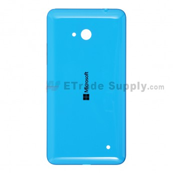 For Microsoft Lumia 640 LTE Dual SIM Battery Door  Replacement - Blue - With Logo - Grade S+
