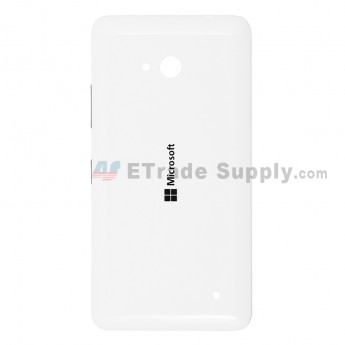 For Microsoft Lumia 640 LTE Dual SIM Battery Door  Replacement - White - With Logo - Grade S+