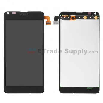 For Microsoft Lumia 640 LTE Dual SIM LCD Screen and Digitizer Assembly  Replacement - Black - With Logo - Grade S+